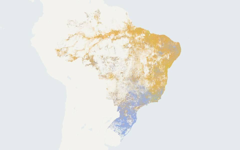 mapa segregação racial e saneamento no Brasil